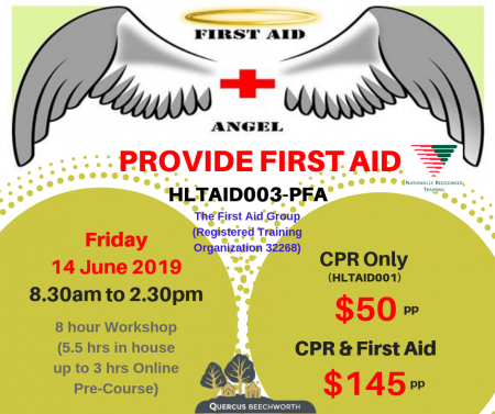 PROVIDE FIRST AID – CPR ONLY (16/4/19) – 2 hrs ONLY