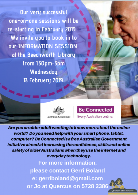 BE CONNECTED – FREE Information Session – Mentors & Mentees