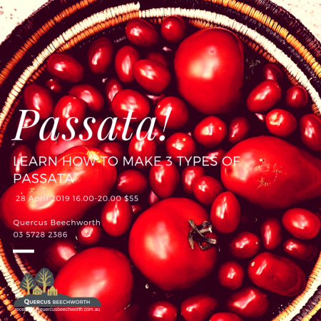 TASTE OF ITALY – Passata Making Workshop (28/4/19)