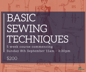 BASIC SEWING TECHNIQUES @ Oregon hall Quercus