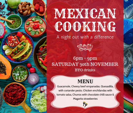 MEXICAN COOKING – A night out with a difference