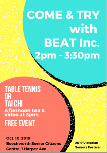 Come and Try with BEAT Inc @ Beechworth Senior Citizens Centre