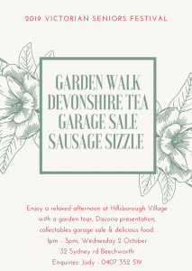Garden Walk with Devonshire Tea, Garage Sale & Sausage Sizzle @ Hillsborough Village