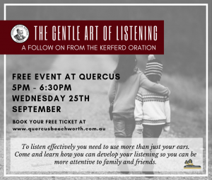 The Gentle Art of Listening @ Oregon hall Quercus