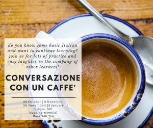 Conversazione con un caffe' @ To be confirmed