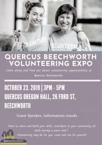 Quercus Beechworth Volunteering Expo @ Quercus Beechworth