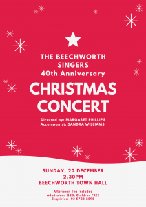 40th Anniversary - Beechworth Christmas Concert @ Beechworth Town Hall