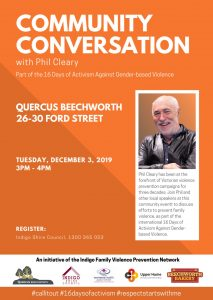 Community Conversation with Phil Cleary @ Quercus Beechworth