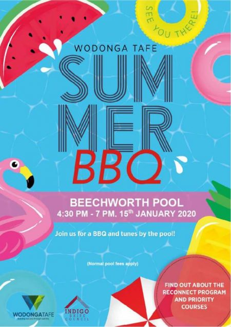 Wodonga TAFE Summer BBQ at Beechworth Pool – POSTPONED