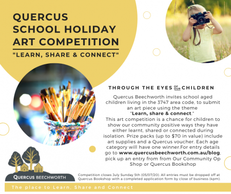 Quercus School Holiday Art Competition.